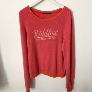Wildfox Beverly Hills red sweater